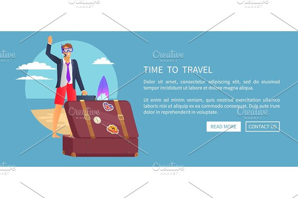 Time To Travel Web Poster Push Buttons Read More