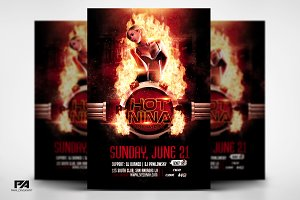 Fire Club DJ Party Flyer Template