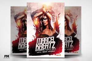 Electro House DJ v2 Flyer Template
