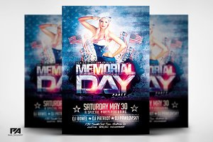 Memorial Day v2 PSD Flyer Template