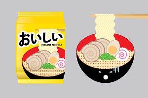 ramen/ instant noodle illustration
