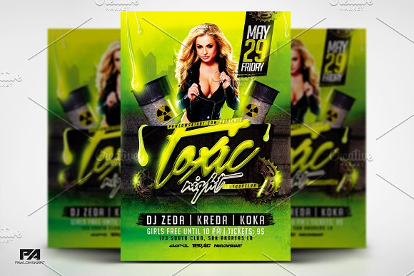 Toxic Night V2 Party Flyer Template