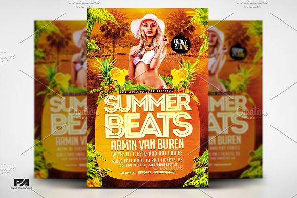 Summer Beats Party Flyer Template