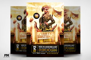 Pirate Costume Party Flyer Template