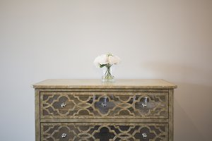 Mirrored Entry Way Console Table