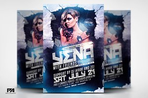 Album Promo DJ Mix Flyer Template