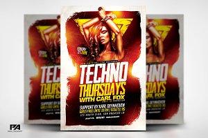 Techno Thursdays Party Template