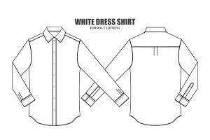 Men Dress Shirt Vector Template