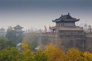 Pagoda architecture in China.