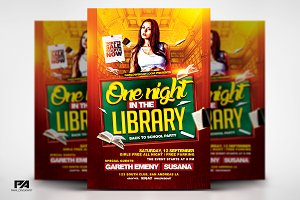 One Night in the Library Flyer