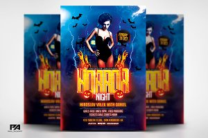 Horror Night Party - Halloween Flyer