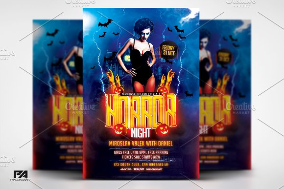 Horror Night Party Halloween Flyer