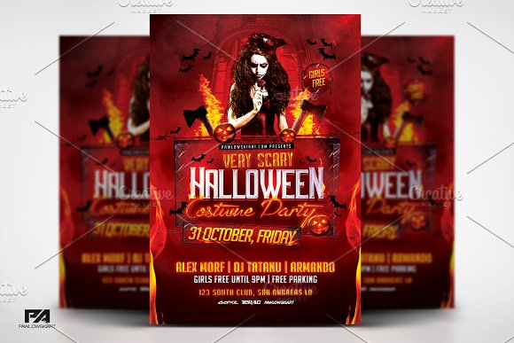 Very Scary Halloween Party Flyer