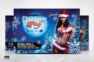 Christmas Night Horizontal Flyer