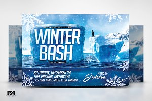 Winter Bash Horizontal Flyer