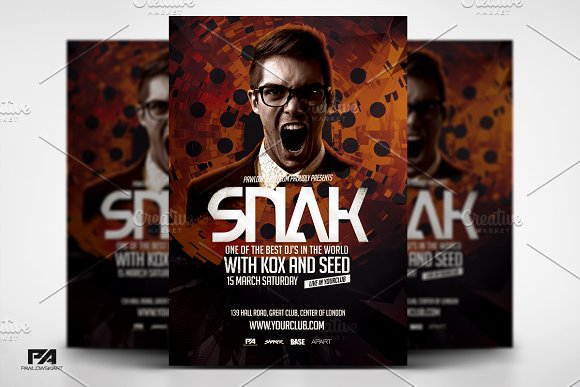 DJ Album Promo Flyer Template