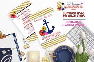 Anchor Love Party Invitation