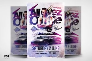 All Eyez On Me PSD Flyer Template