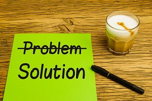 Business concept problem solution green paper