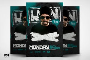 Club DJ Minimal Flyer PSD Template
