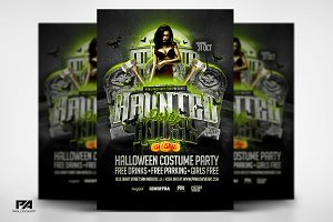 Haunted House Party Flyer Template