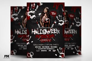 Halloween Massacre Party Flyer