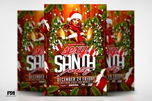 Sexy Santa Party Christmas Flyer