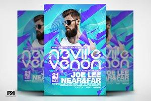 Electro DJ Concert  Flyer Template