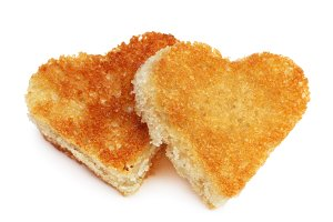 heart bread toast