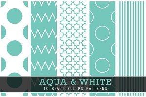 Aqua and White