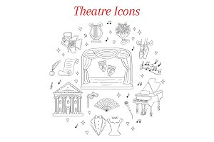 Theater Icons Set