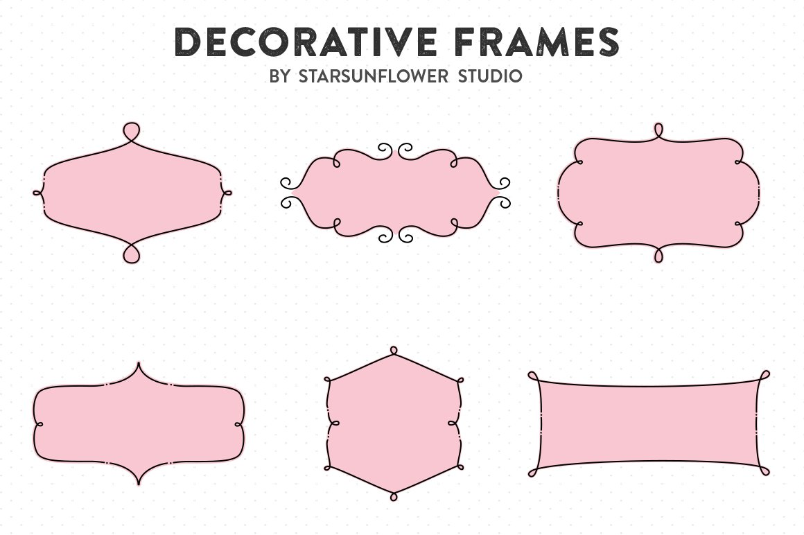 Retro Label Frames Shapes