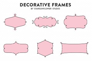 Retro Label Frames Shapes Set No. 28