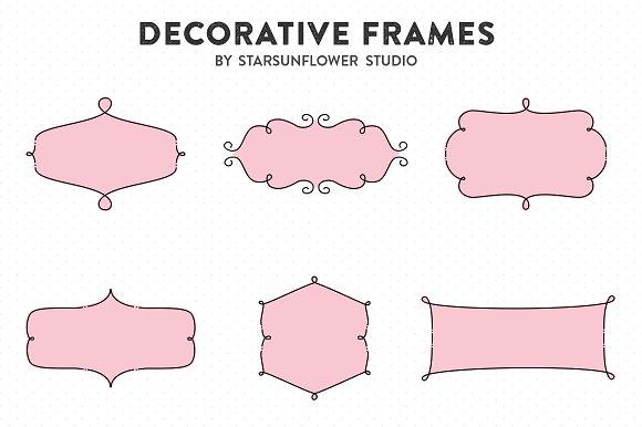 Retro Label Frames Shapes Set No 28