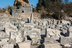 Ruins of ancient Greek, Antalya, Turkey