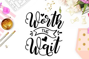 Worth the wait SVG DXF PNG EPS