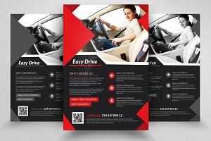 Driving School Psd Flyers Templates