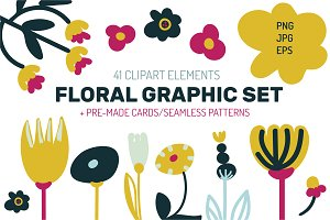 Floral Graphic Set
