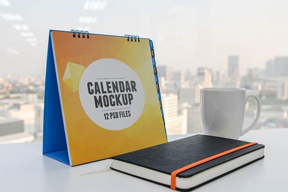 12 Desktop Calendars Mockups #R