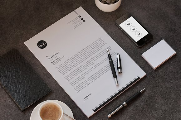 letterhead in Stationery Templates