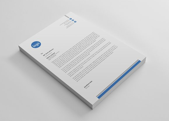 letterhead in Stationery Templates - product preview 1