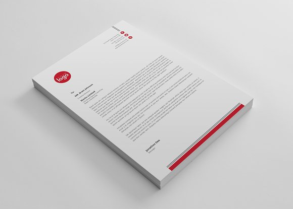 letterhead in Stationery Templates - product preview 2