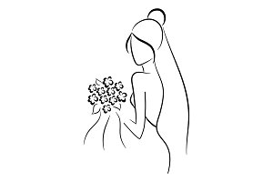 Beautiful Bride, vector illustration