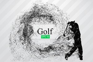 Silhouette of a golf player