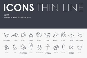 Egypt thinline icons