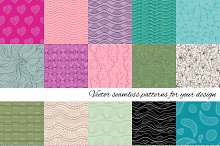 Big set of vector patterns