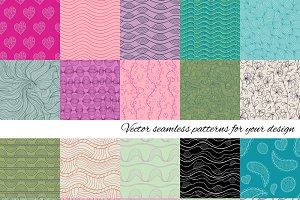 Big set of vector patterns