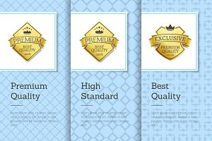 High Standard Best Premium Quality Labels Posters