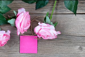 Gift Tag with Roses