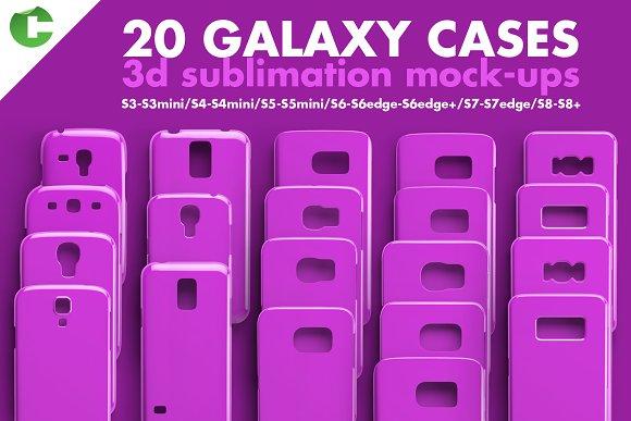 Download GALAXY CASE MOCK-UP 3d print